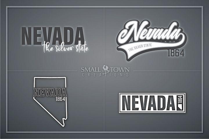 Nevada, The Silver State - slogan, Logo, PRINT, CUT & DESIGN