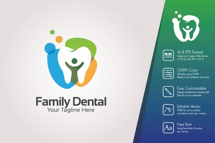 Family Dental Logo Template