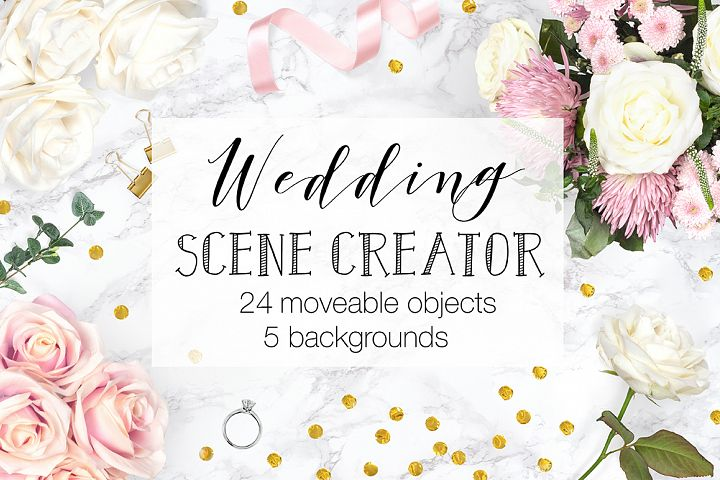 Wedding Scene Creator Top View - Movable Mockup