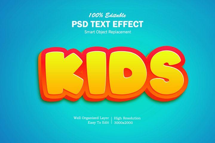 Kids 3D Text Effects
