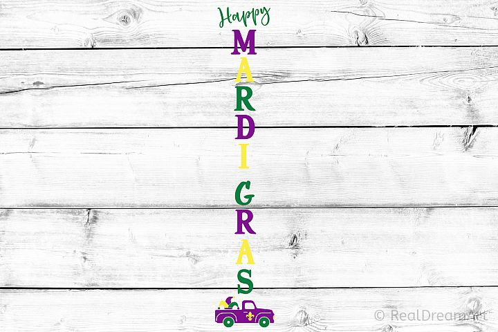 Happy Mardi Gras Porch Sign SVG, DXF, PNG, EPS