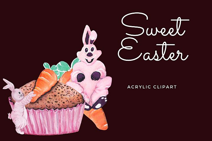 Sweet Easter bunny clipart