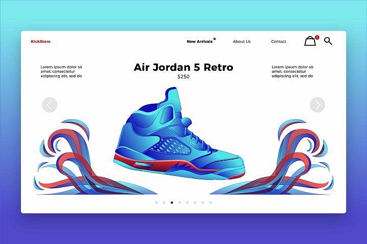 Fashion Shoess - Banner & Landing Page