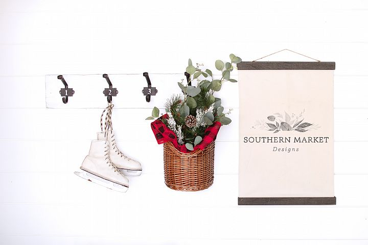 Christmas Canvas Banner Sign Mock Up Styled Photography