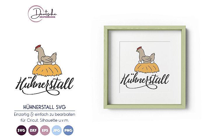 Hühnerstall SVG