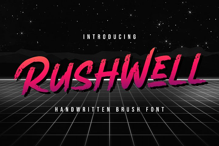 Rushwell - Brush Font