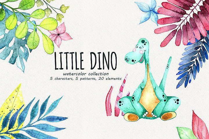 Little Dino - Watercolor set
