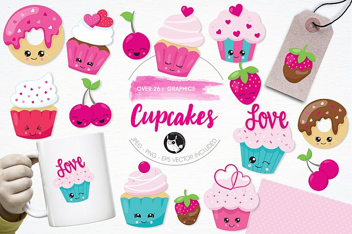 Cupcakes graphics and illustrations
