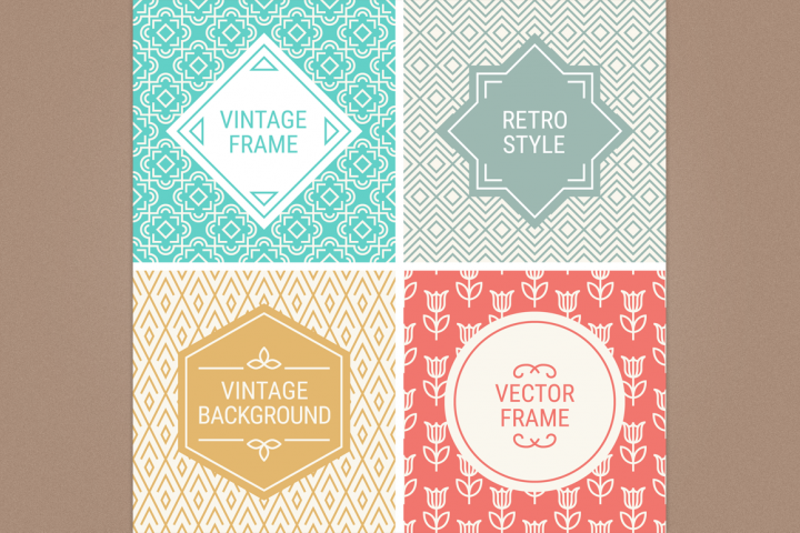 Mono Line Frames and Patterns - Set 12
