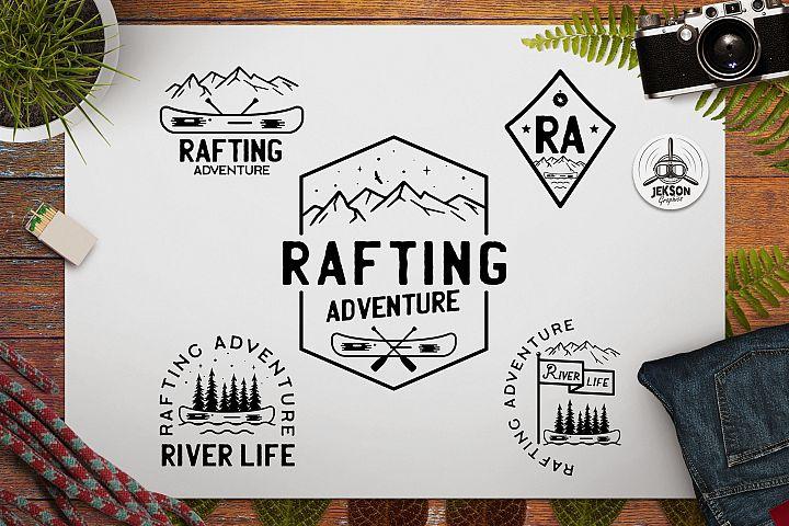 Rafting Adventure Logos, Vector Camping Badges, TShirt SVG