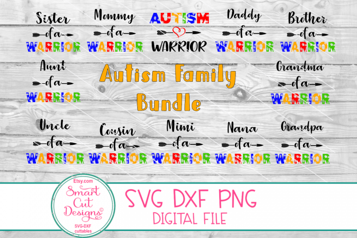 Autism Bundle SVG, Autism Family Bundle, Autism Warrior SVG