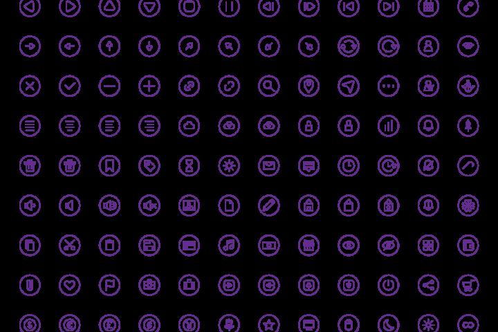 108 UI icon set