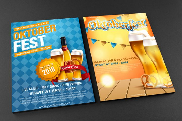 Oktoberfest Flyer Template - Vector