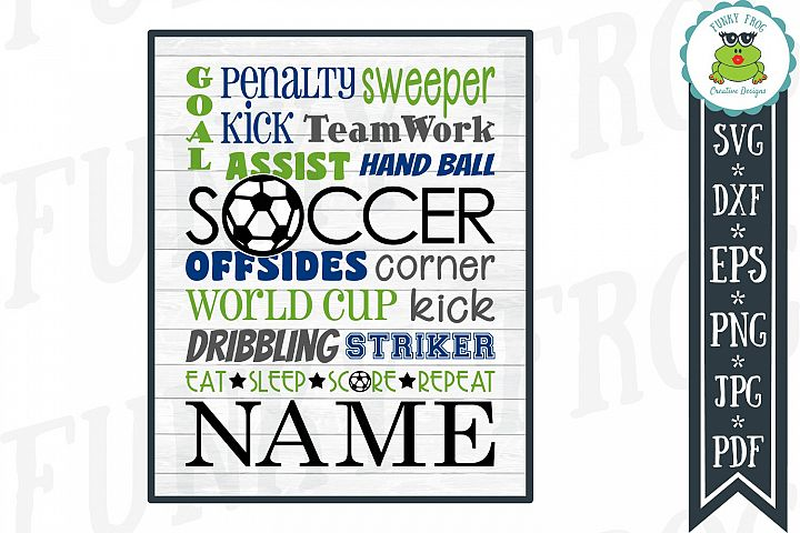 Soccer Subway Art SVG Cut File for Crafters
