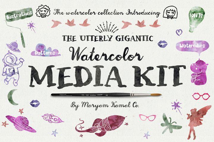 Utterly Gigantic Watercolor Media Kit
