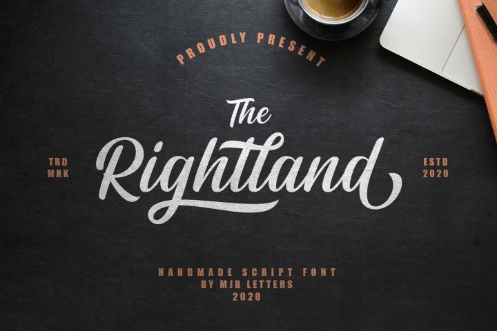 Rightland - Modern Bold Script