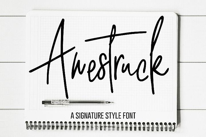 Awestruck Signature Style Font