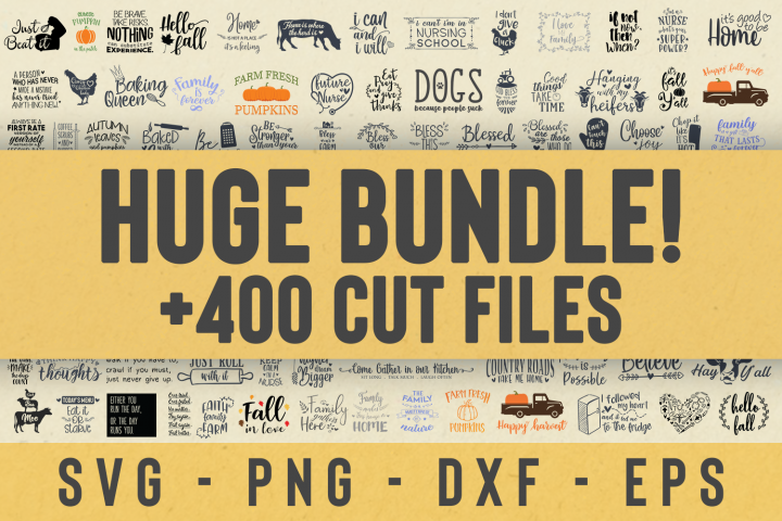 SALE! Over 400 Craft Cut files Bundle, Huge bundle svg