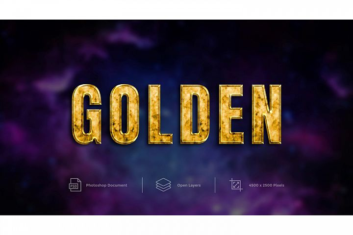 Golden Text Effect Design Photoshop Layer Style Effect
