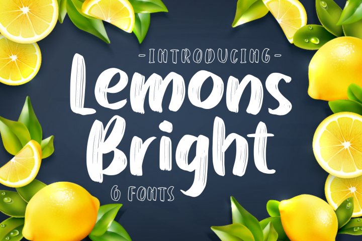 Lemons Bright - family display font-