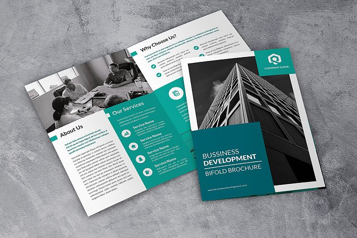 Bussiness Corporate Bifold Brochure