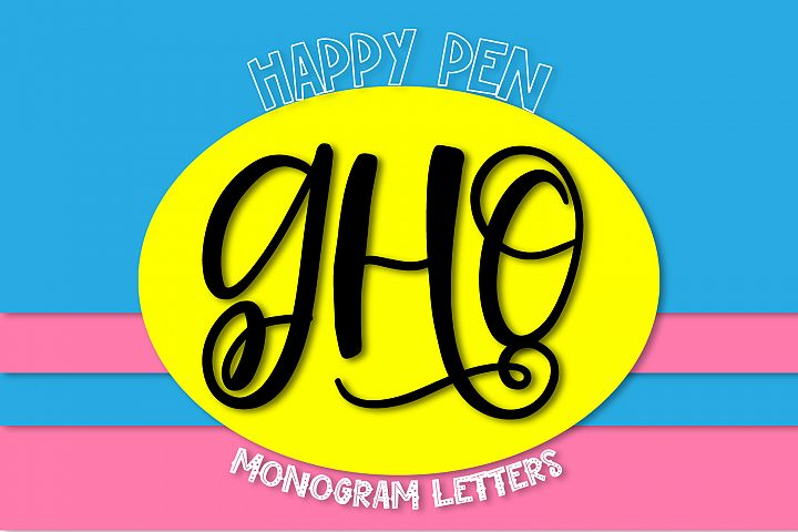 Happy Pen - A Monogram Font