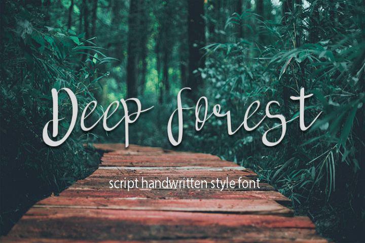deep forest script handwritten font