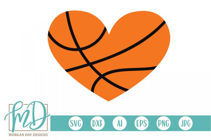 Basketball Heart SVG, DXF, AI, EPS, PNG, JPEG