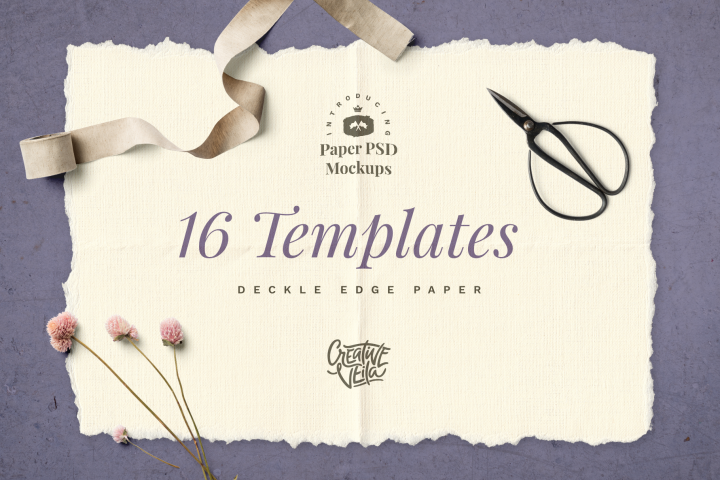 Deckle Edge Paper Mockup Set