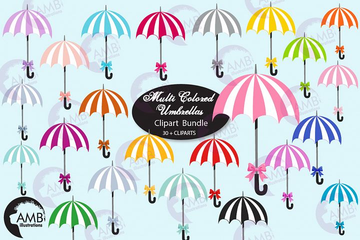 Beach Umbrella clipart, graphics, AMB-2617