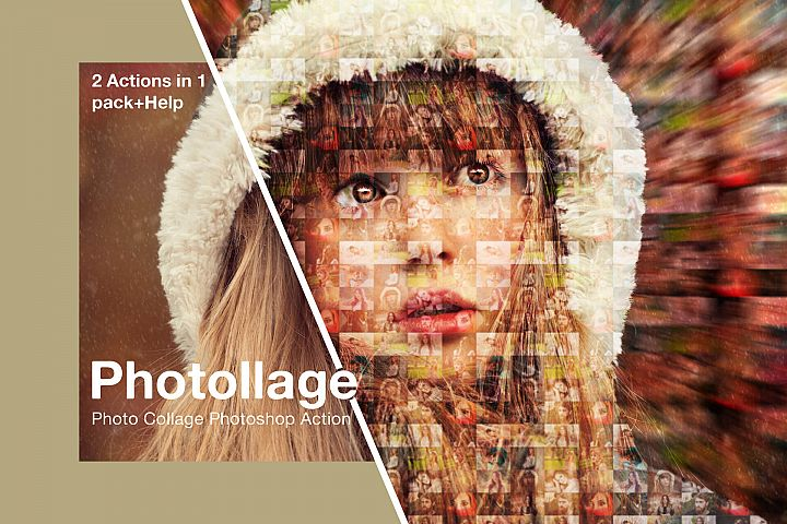 Photollage Photo Collage Photoshop Action