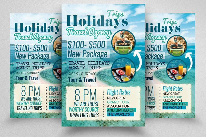 A4 Tour Travel & Holidays Flyer