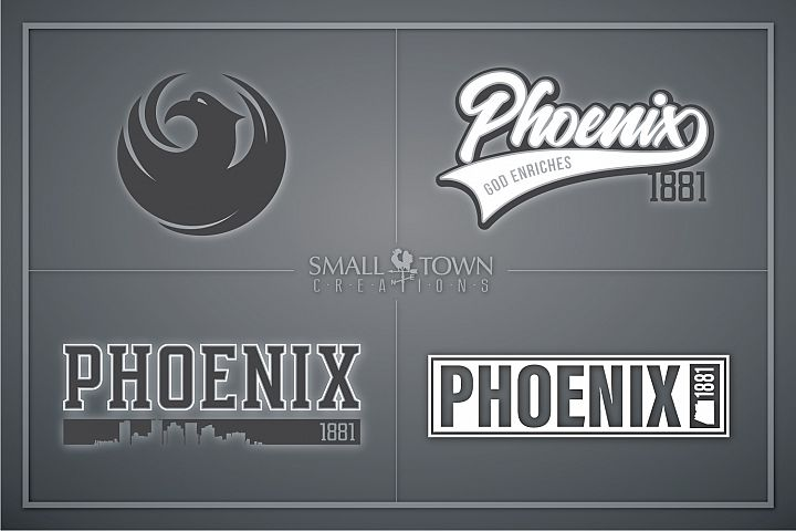 Phoenix, God Enriches - slogan, Arizona, PRINT, CUT & DESIGN