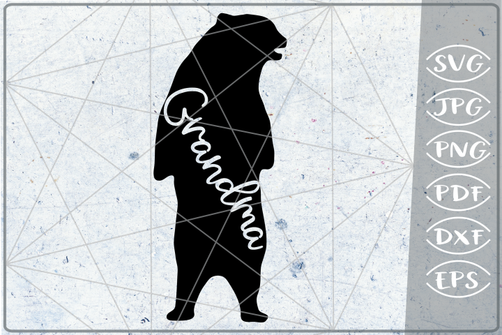 Grandma Bear SVG Cutting File Mothers Day svg png cricut