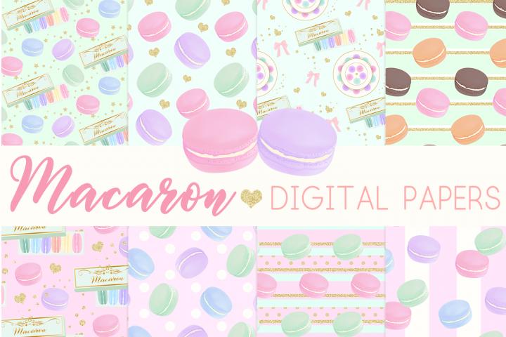 Macaron Digital Papers Seamless Pattern