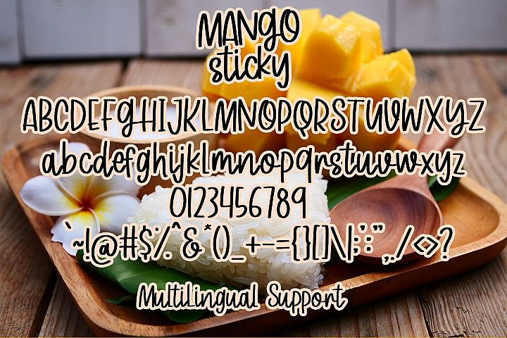 Mango Sticky - Handwritten Font - Free Font of The Week Design3