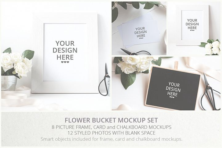 Flower Bucket Mockup Bundle