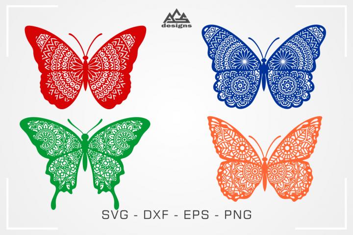Butterfly Mandala Svg Design