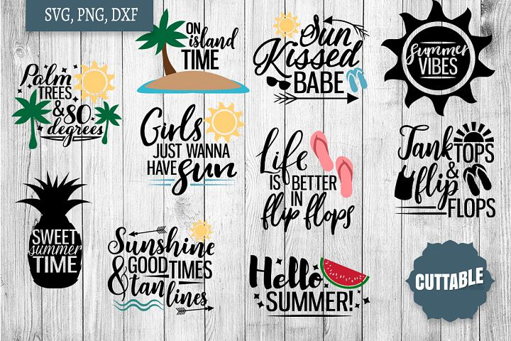 Summer SVG bundle, Summer quote cut files, Summer Cut files