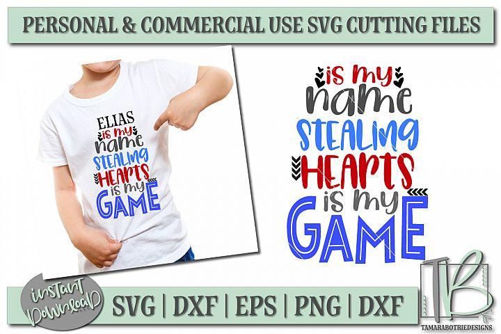 Stealing Hearts SVG, Heart Breaker SVG File, Boys Valentine