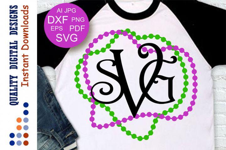 Mardi Gras crew svg Letters for Monogram Svg
