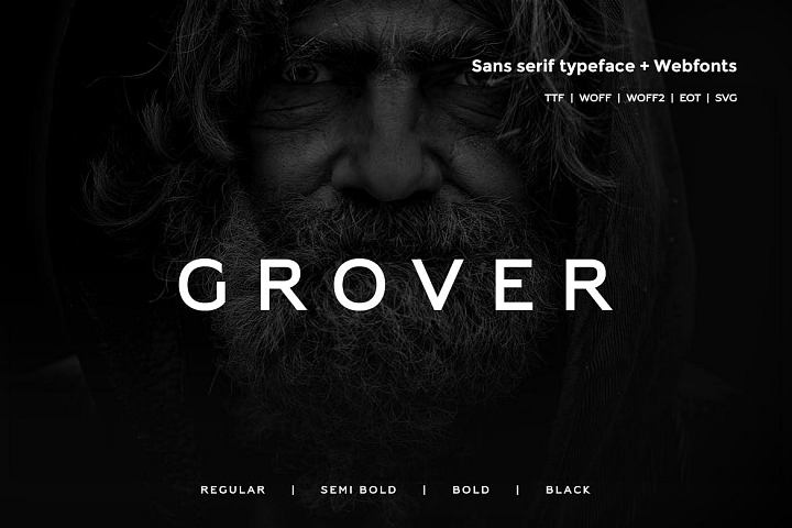 Grover - Modern Typeface with WebFont