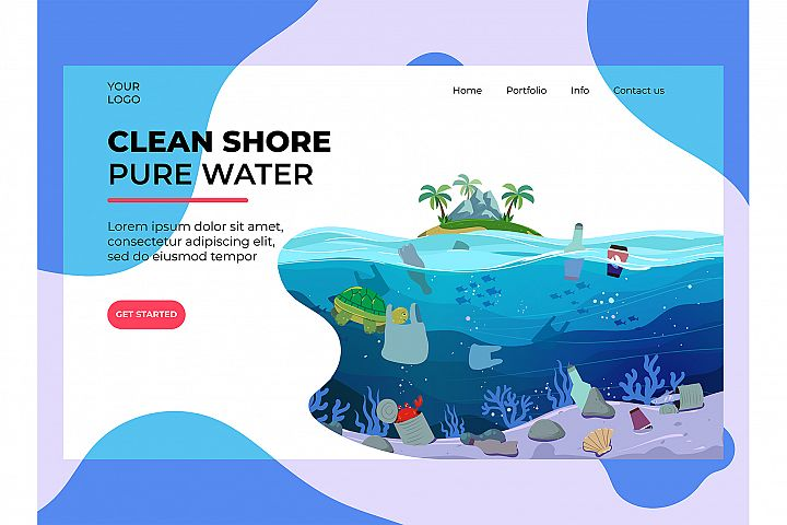 Water Plastic Pollution Landing Page