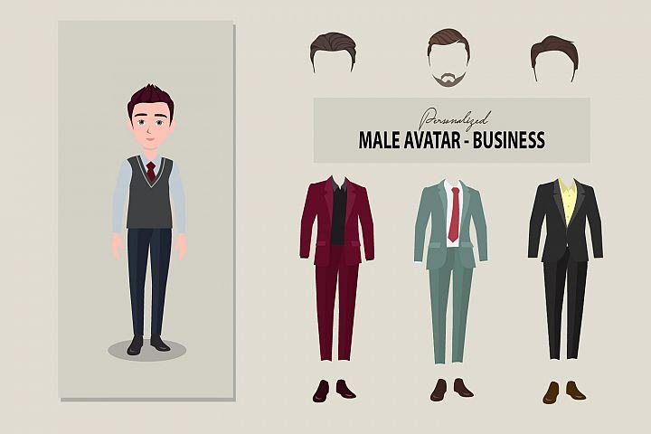 Male avatar - business