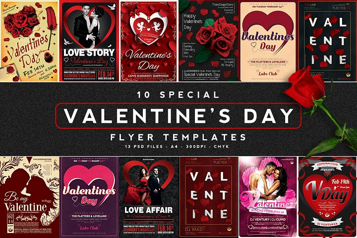 10 Valentines Day Flyer Bundle V1