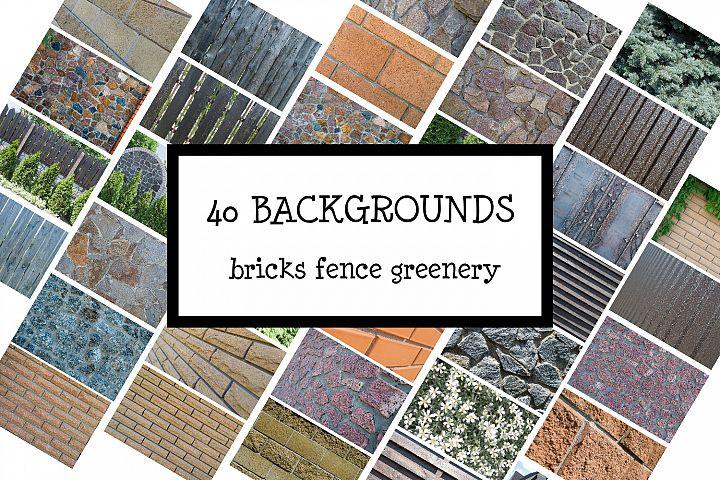 Bricks, fence and greenery