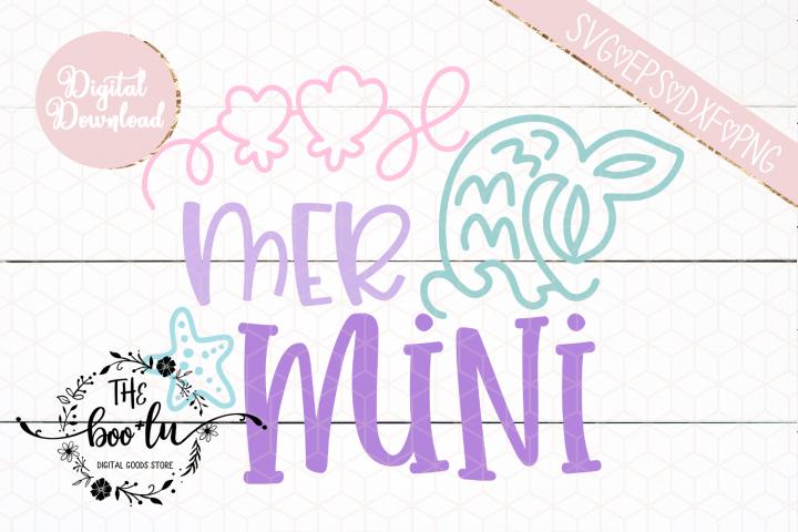 Mer Mini SVG Cutting File Mermaid Girl Sibling EPS DXF PNG