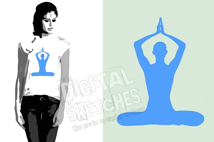 Yoga Vector Graphic, Meditation Cut File, Yoga SVG