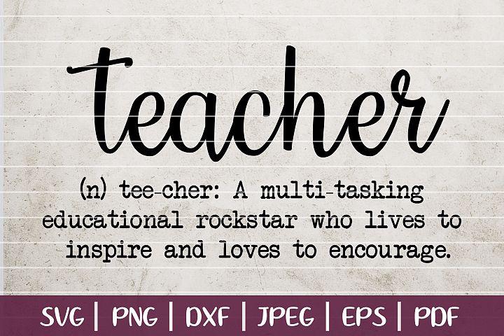 Funny Teacher Definition SVG Cut File - Back To School SVG