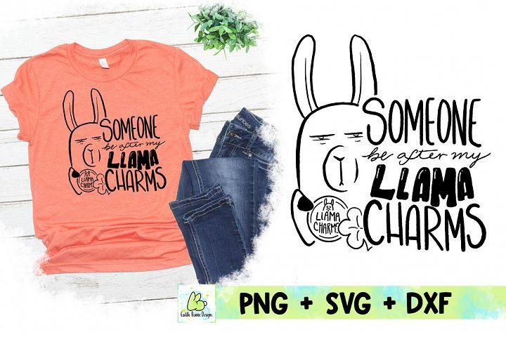 Lucky Llama Charms| Handwritten St Patricks Day SVG
